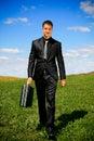 image photo : Walking businessman