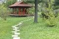 деревянное газебо Стоковые Изображения