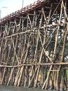 деревянный мост Стоковое Фото