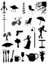 ежедневные символы деталей икон Стоковые Изображения