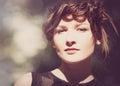 женский портрет с bokeh красоты Стоковая Фотография RF