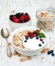 завтрак с свежими яго ами Стоковое фото RF