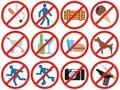 запрещать вектор знаков Стоковое Фото