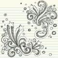 звезды задней школы doodle установленные схематичные, котор нужно vector Стоковое Изображение