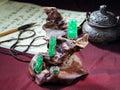 зеленый нефрит Стоковые Изображения RF