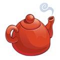 изо ятd red teapot white Стоковые Изображения