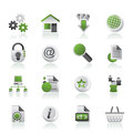 Иконы вебсайта и интернета Стоковая Фотография