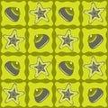 Картина Star-fishes безшовная Стоковая Фотография RF