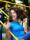 качание девушки Стоковое Изображение RF