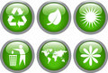 комплект иконы экологичности лоснистый Стоковая Фотография
