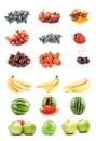 Комплект фруктов и овощей Стоковое Фото