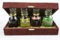 Коробка и бутылки Стоковая Фотография