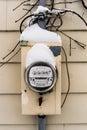 Коробка электрического счетчика Стоковые Изображения