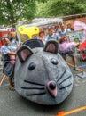 красная гонка импровизированной трибуны bull в турине Стоковое Фото