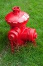 красный цвет жидкостного огнетушителя Стоковые Изображения RF