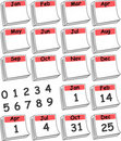 красный цвет дня календара изготовленный на заказ Стоковые Изображения RF