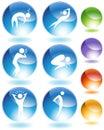 кристаллический комплект болезни иконы Стоковое Изображение
