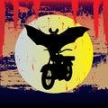 летучая мышь halloween вне Стоковое Изображение