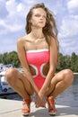 Милая меланхоличная женщина Стоковые Фотографии RF
