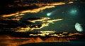 мир ночей странный Стоковая Фотография RF