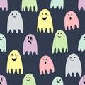 ми ые пугающие призраки и  юстрация halloween счаст ивая Стоковое фото RF