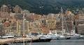 монако яхты в порте герку есе Стоковое Изображение