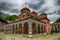 монастырь rila monastery the самый бо ьшой правоверный в бо гарии Стоковые Изображения RF