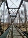 мост поез а на миссури Стоковая Фотография RF