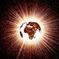накалять земли Стоковая Фотография RF