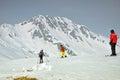 наклон лыжников alps австрийский Стоковые Изображения RF