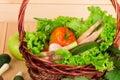 натюрморт и корзина овощей Стоковое Фото