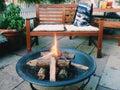 огонь с  рузьями Стоковые Фотографии RF