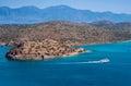 остров spinalonga крит греция Стоковые Изображения RF