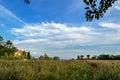 панорама в тростниках Стоковая Фотография RF