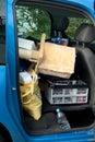 перехо с автомоби ем Стоковые Фото