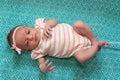 помадка девушки newborn Стоковая Фотография RF