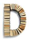 пометьте буквами d сформированный от концов страницы книг Стоковое Изображение RF