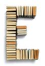 пометьте буквами e сформированный от концов страницы книг Стоковые Изображения