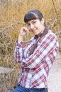 портрет мо о ой ми ой  евушки Стоковые Фото