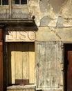 постаретое окно Стоковая Фотография
