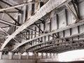 по мостом Стоковые Фото