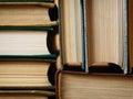 пре посы ка с е анная из старых книг аранжирова а в стогах Стоковое Фото