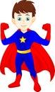 пре став ять ма ьчика супергероя Стоковое Изображение RF