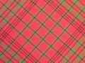 проверенный красный цвет ткани Стоковые Фотографии RF
