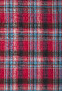 проверенный красный цвет ткани Стоковые Фото