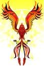 Птица пламени Феникс Стоковое Изображение