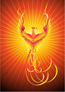 птица phoenix Стоковые Фотографии RF