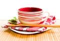 пустой суп плиты Стоковая Фотография RF