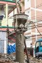 работники з ания конструкции на бетоне Стоковые Фото