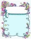 речь тетради рамки doodle пузыря Стоковая Фотография